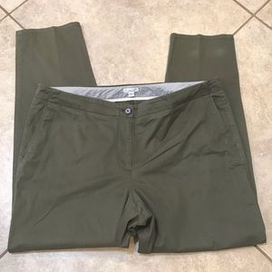 J. Jill Size 18 Live in Chino Olive green Pants